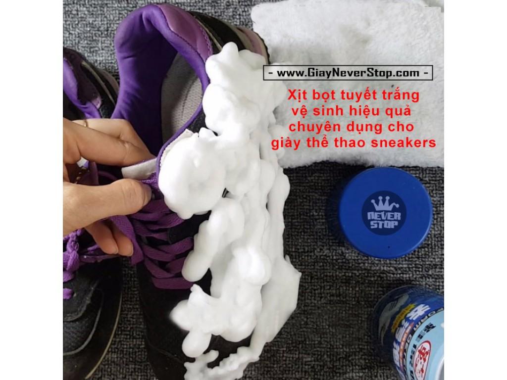 Chai chà giày bọt tuyết siêu sạch chuyên dụng cho giày sneakers giá rẻ HCM