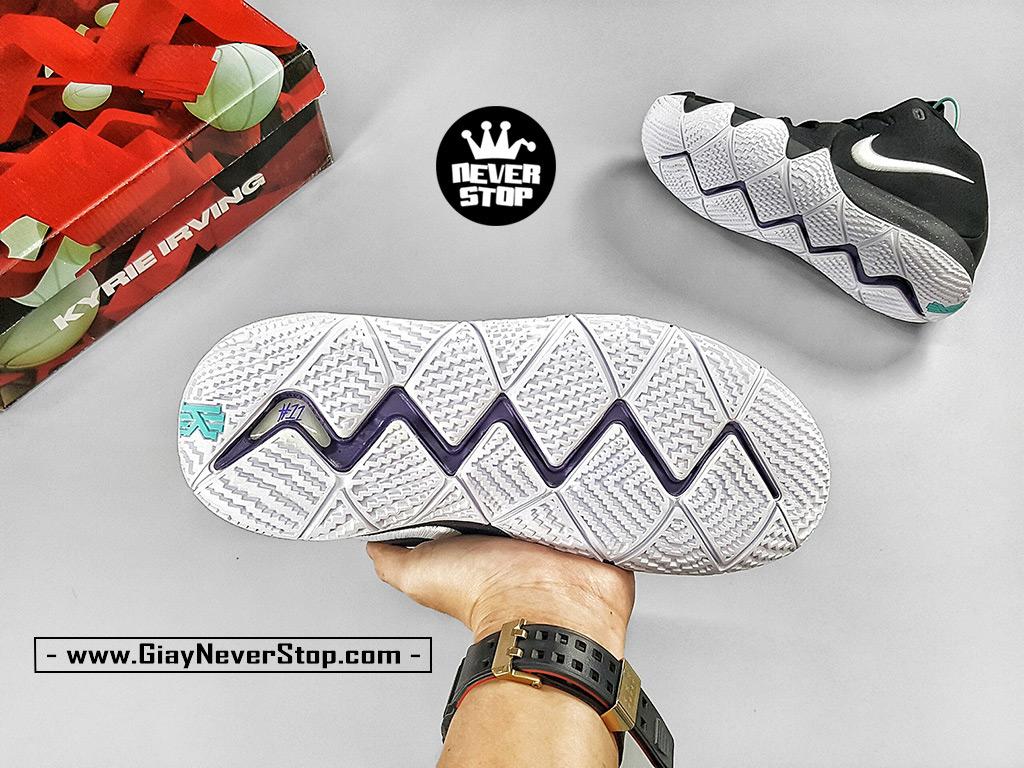 Giày NIKE KYRIE 4 ĐEN TRẮNG cổ cao nam chuyên bóng rổ outdoor, sfake giá tốt HCM