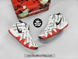 Giày NIKE KYRIE 4 TRẮNG XANH ĐỎ ĐEN cổ cao nam chuyên bóng rổ outdoor, sfake giá tốt HCM