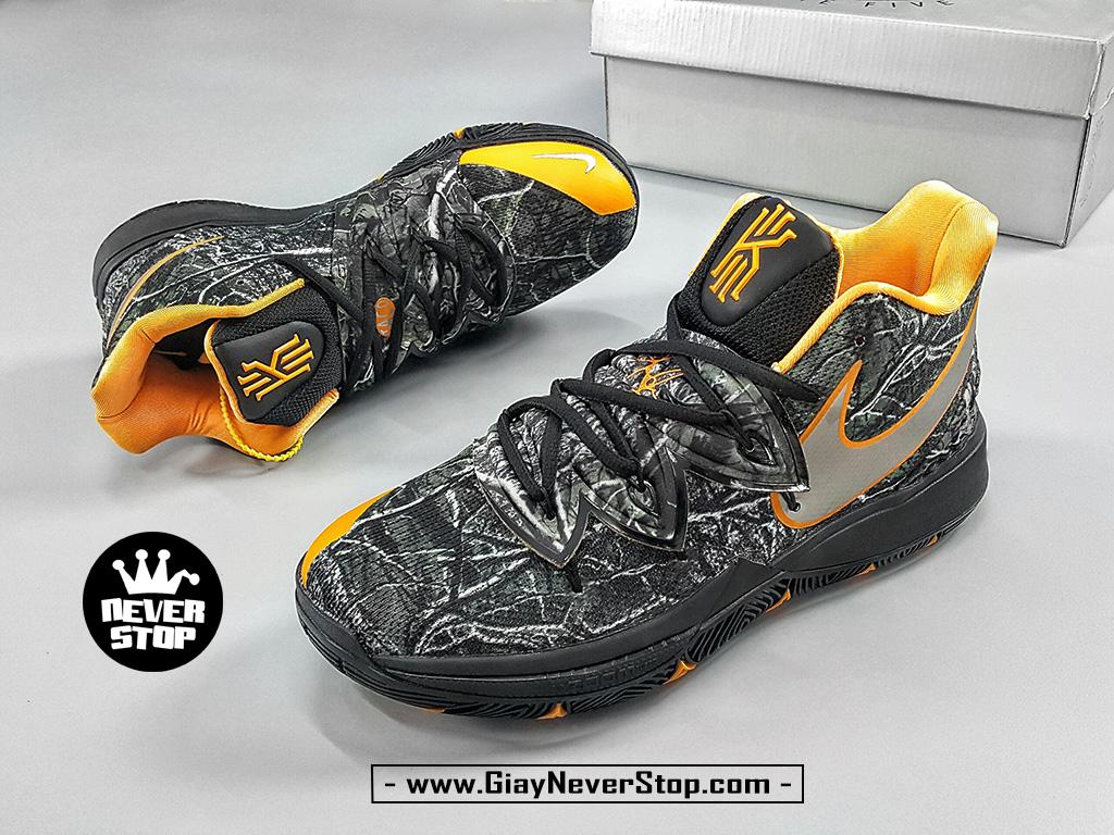 Giày NIKE KYRIE 5 ĐEN CAM chuyên bóng rổ hàng sfake chuẩn đẹp giá tốt nhất HCM