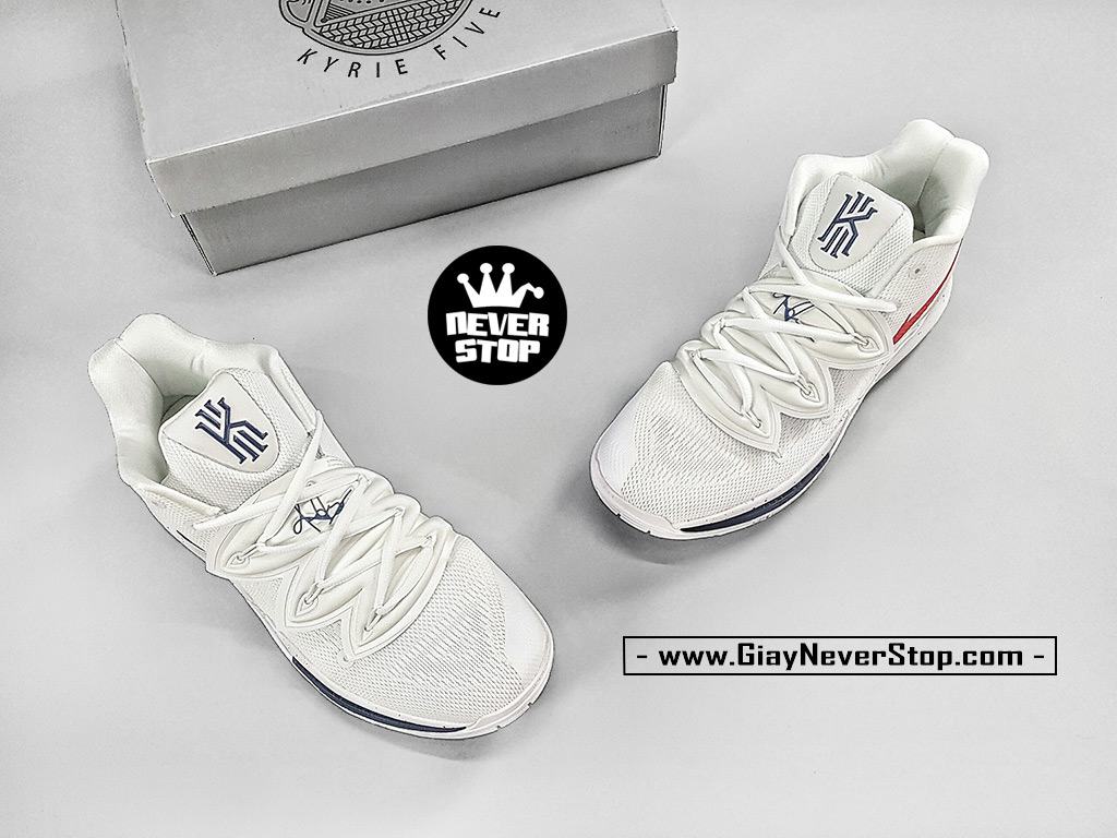 Giày NIKE KYRIE 5 TRẮNG ĐỎ chuyên bóng rổ hàng sfake chuẩn đẹp giá tốt nhất HCM