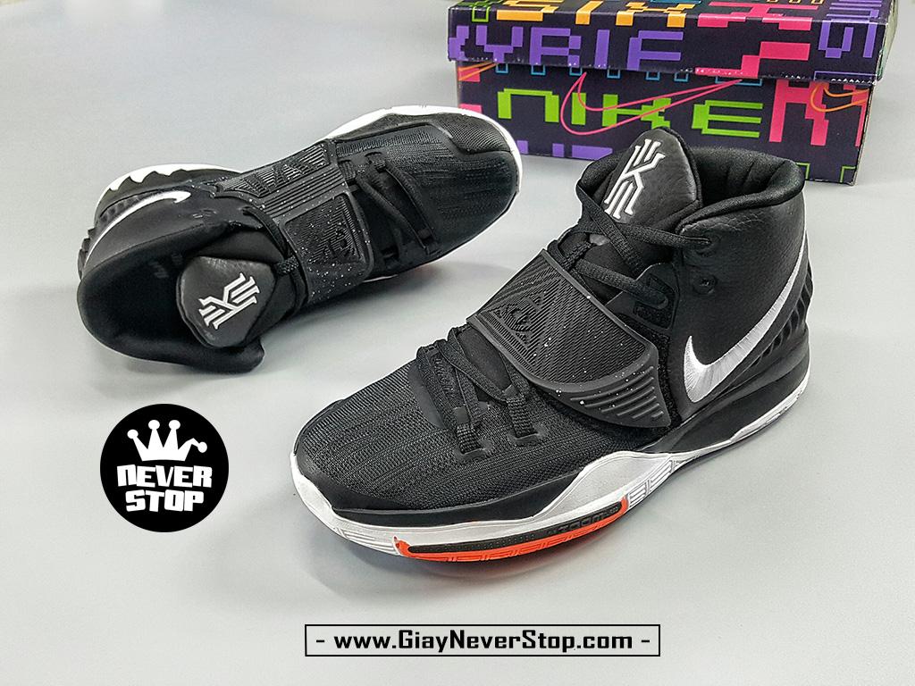 Giày NIKE KYRIE 6 ĐEN TRẮNG chuyên bóng rổ sân outdoor hàng sfake chất lượng cao giá tốt nhất HCM