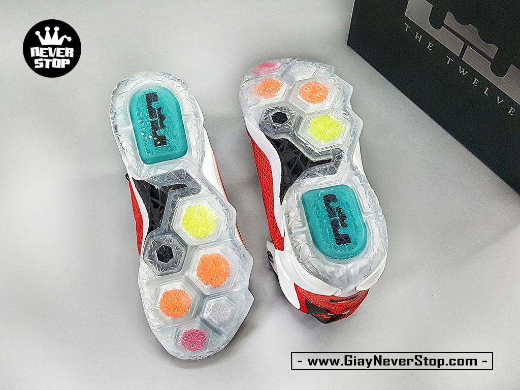 Giày NIKE LEBRON 12 TRẮNG ĐỎ chuyên bóng rổ hàng chất lượng cao giá rẻ HCM