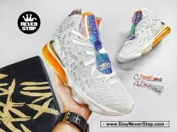 Giày NIKE LEBRON 17 TRẮNG CAM bóng rổ nam hàng replcia 1:1 chuẩn chất lượng cao hàng đẹp giá tốt nhất HCM