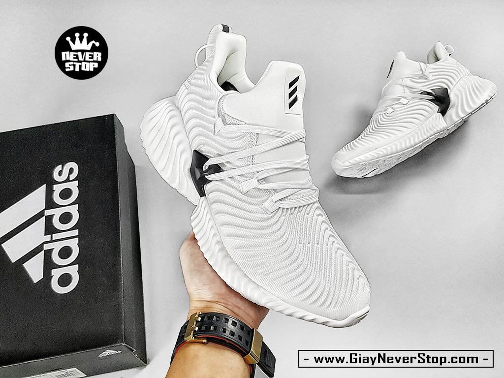 Giày chạy bộ Alphabounce Instinct trắng full nam nữ hàng chuẩn sfake giá tốt HCM