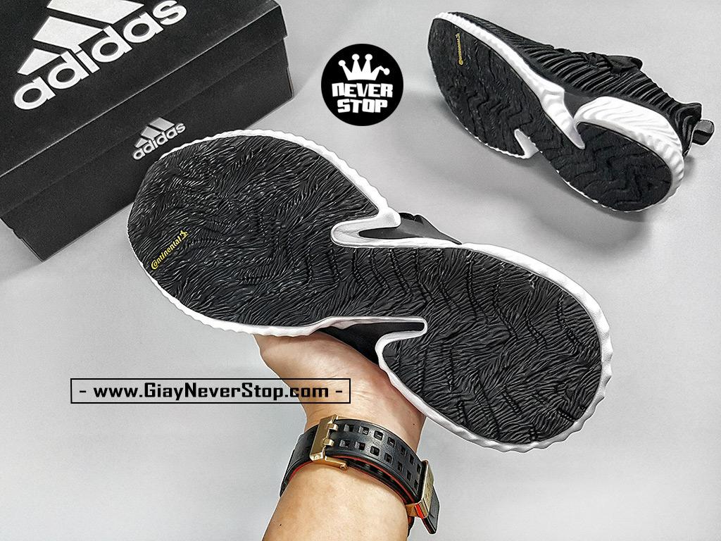 Giày chạy bộ Alphabounce Instinct đen trắng nam nữ hàng chuẩn sfake giá tốt HCM