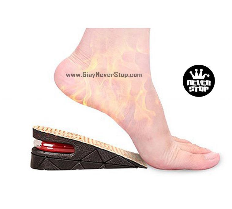 Lót giày tăng chiều cao 5 phân siêu bền siêu êm giá rẻ HCM