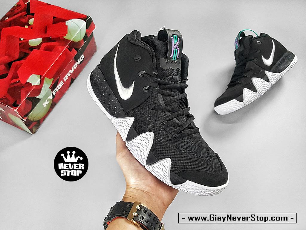 Giày Kyrie 4 đen trắng chuyên bóng rổ hàng sfake chất lượng cao giá tốt HCM