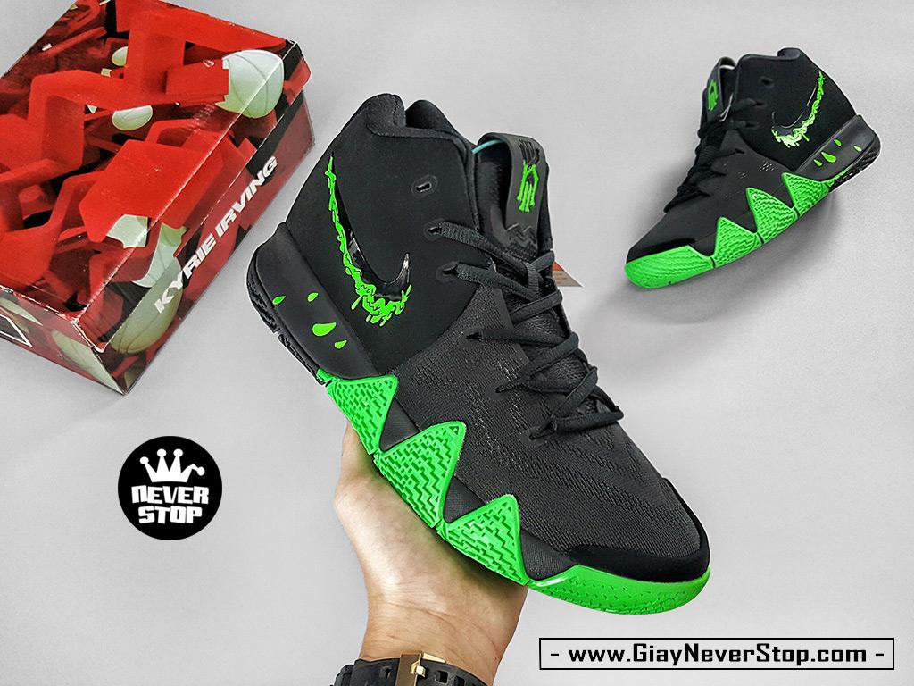 Giày Kyrie 4 đen xanh lá chuyên bóng rổ hàng sfake chất lượng cao giá tốt HCM