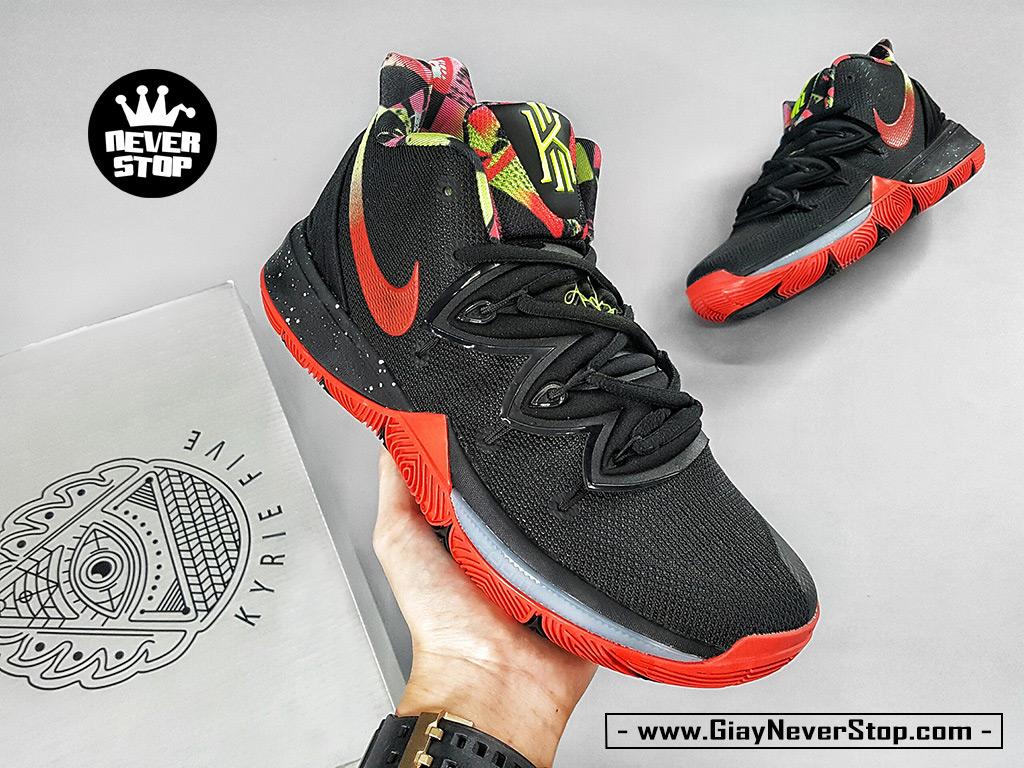 Giày Kyrie 5 đen đỏ chuyên bóng rổ hàng chuẩn sfake giá tốt NeverStopShop