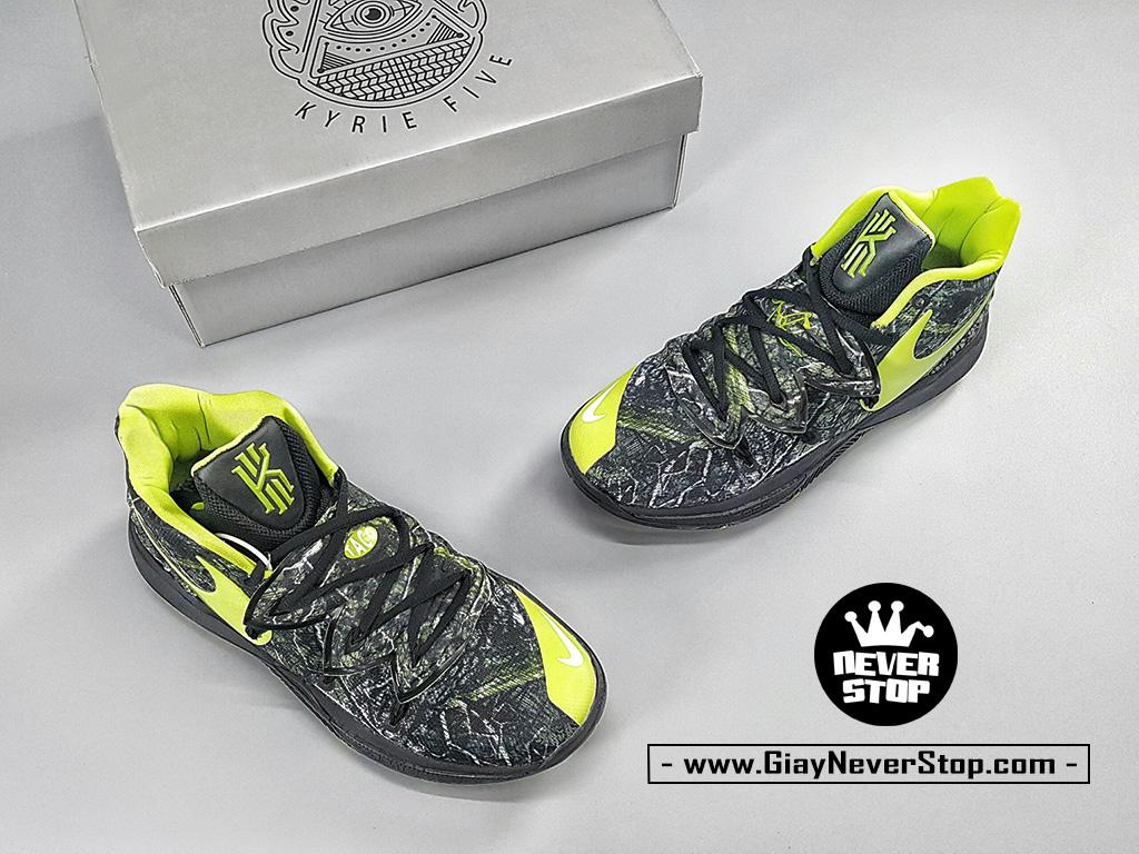 Giày Kyrie 5 Đen Xanh Lá chuyên bóng rổ hàng chuẩn sfake giá tốt NeverStopShop