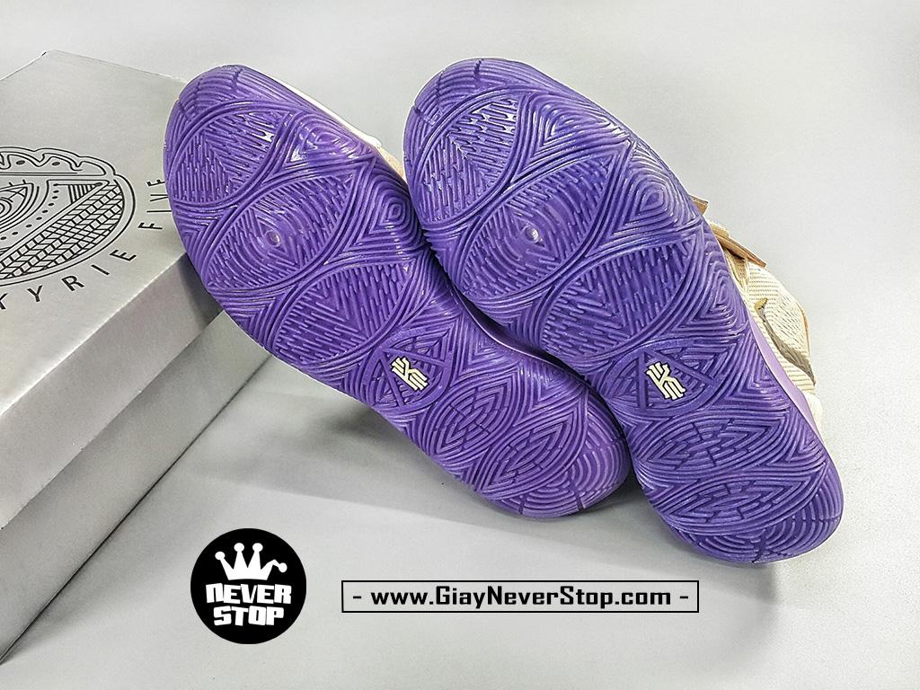 Giày Kyrie 5 Kem Tím Đỏ chuyên bóng rổ hàng chuẩn sfake giá tốt NeverStopShop