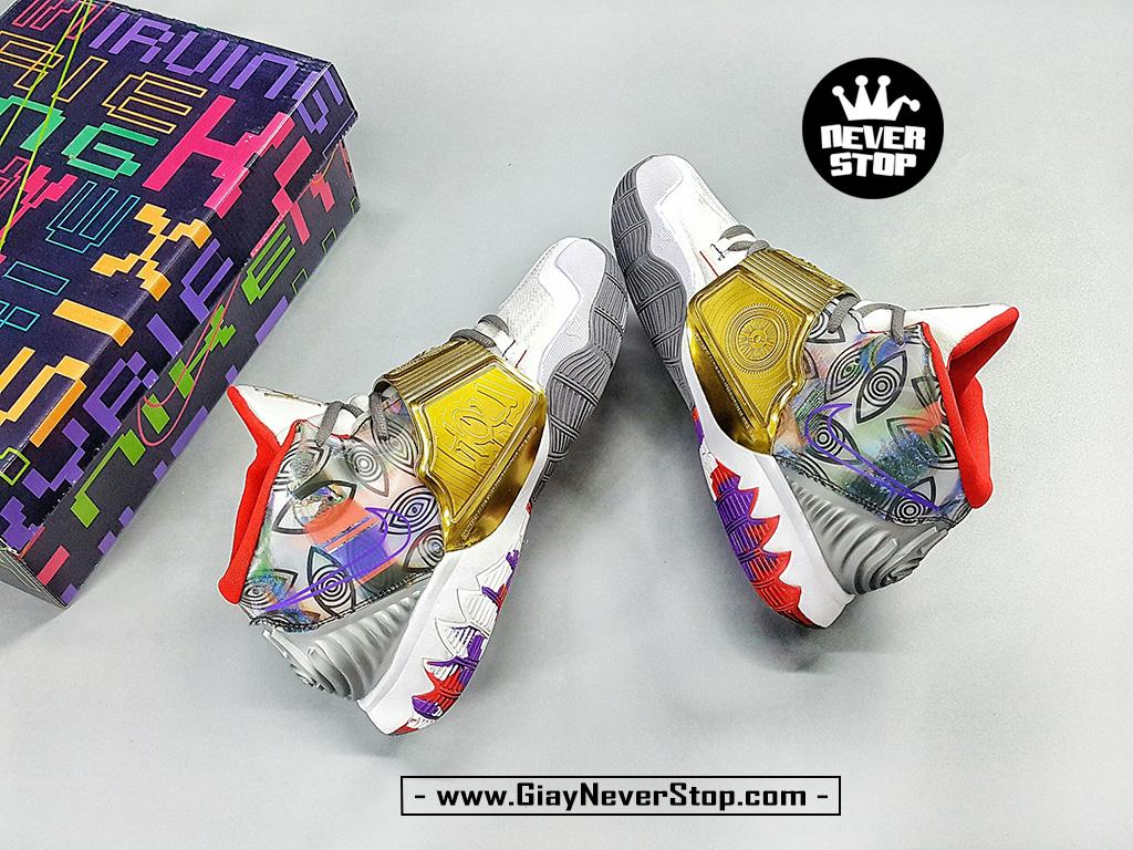 Giày Kyrie 6 Houston trắng vàng sfake chuẩn đẹp giá tốt HCM