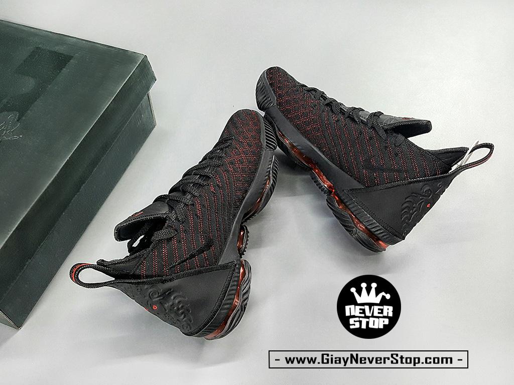 Giày LEBRON 16 ĐEN ĐỎ thể thao bóng rổ nam hàng sfake chuẩn đẹp giá rẻ HCM
