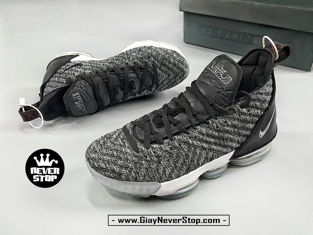 Giày LEBRON 16 XÁM OREO thể thao bóng rổ nam hàng sfake chuẩn đẹp giá rẻ HCM