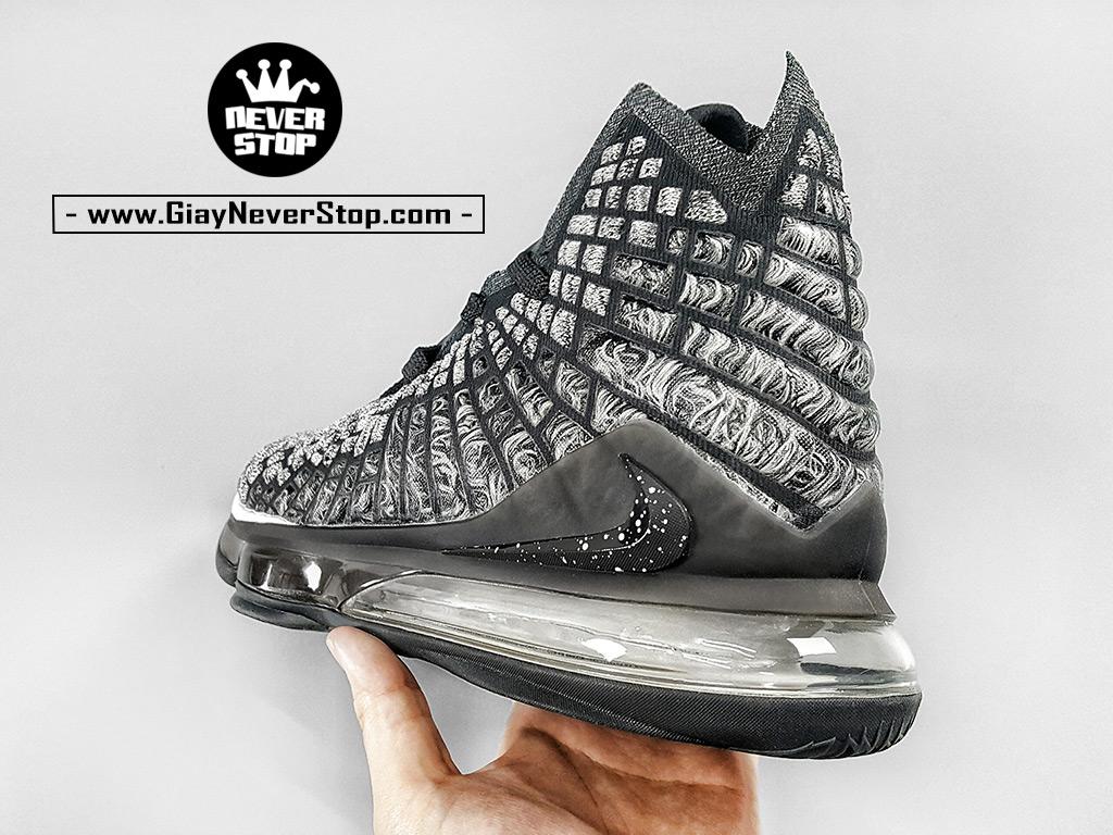 Giày Lebron 17 đen trắng chuyên bóng rổ chuẩn replica 1:1 real giá tốt HCM